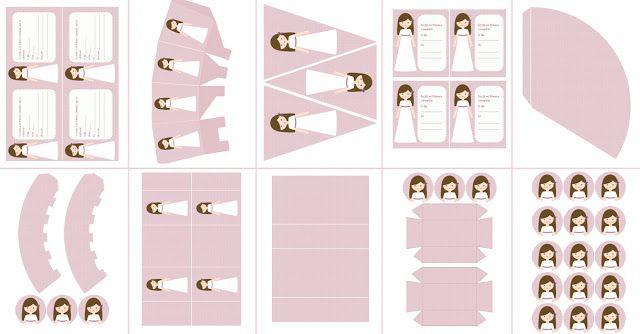 Postreadicción galletas decoradas, cupcakes y pops: Imprimible de comunión para niña, modelo rosa