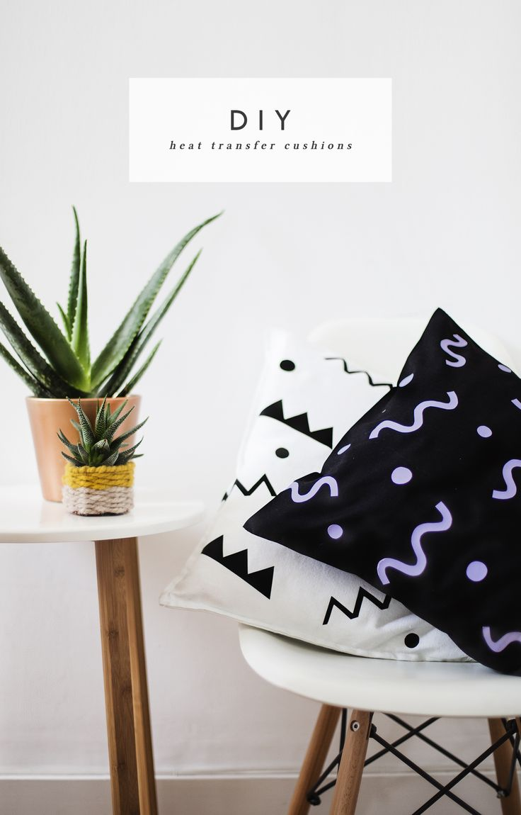 DIY heat transfer cushion idea   home tutorial   pattern   diy gifts   crafts to decorate your house