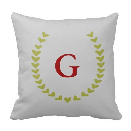 Laurel Wreath Monogram Pillow