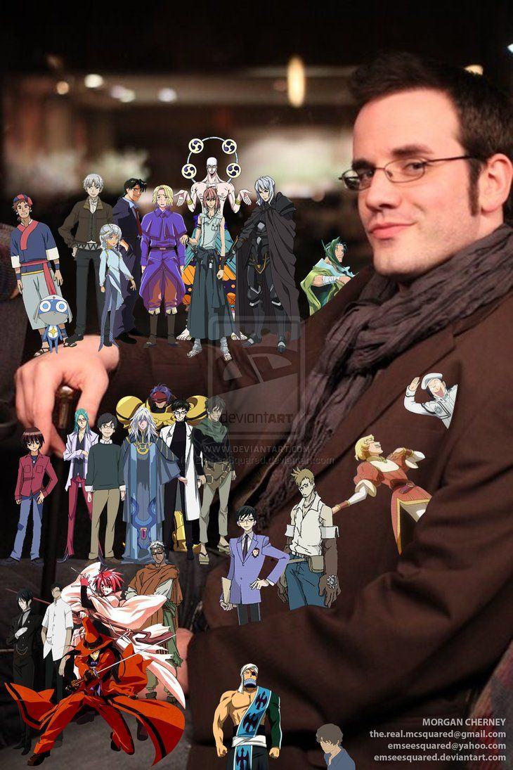 "J. Michael Tatum. This guy does some amazing character voices. My personal favorites are Sebastian Michaelis from ""Black Butler"", Kraft Lawrence from ""Spice and Wolf"", Kyouya Ootori from ""Ouran High School Host Club"" and Shizuka Doumeki from ""xxxHolic"", Rintarō Okabe from ""Stein's;Gate""."