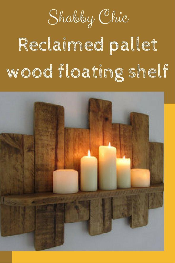 Pallet Wood Picture Ledge Shelf Rustic Reclaimed Wood Floating