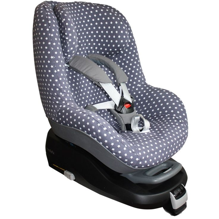 Hoes autostoel Maxi Cosi Pearl, grijs met witte sterren. Neem voor meer Maxi Cosi hoezen een kijkje op www.ukje.nl