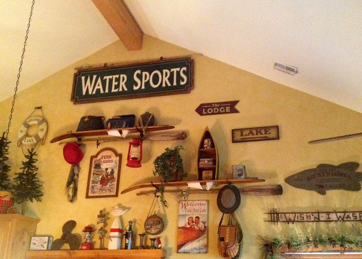 water ski shelves | Use water skis as shelves! | Home Decor: WALLS