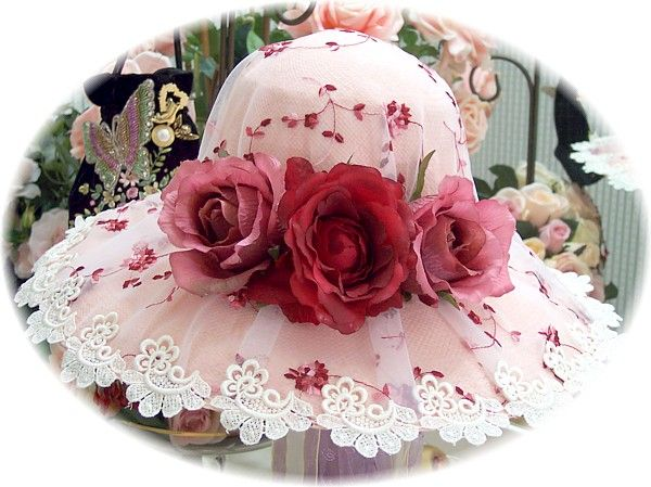 Victorian Tea Party Hats | ... tea hat our victorian cottage burgundy tea hat is covered with silk