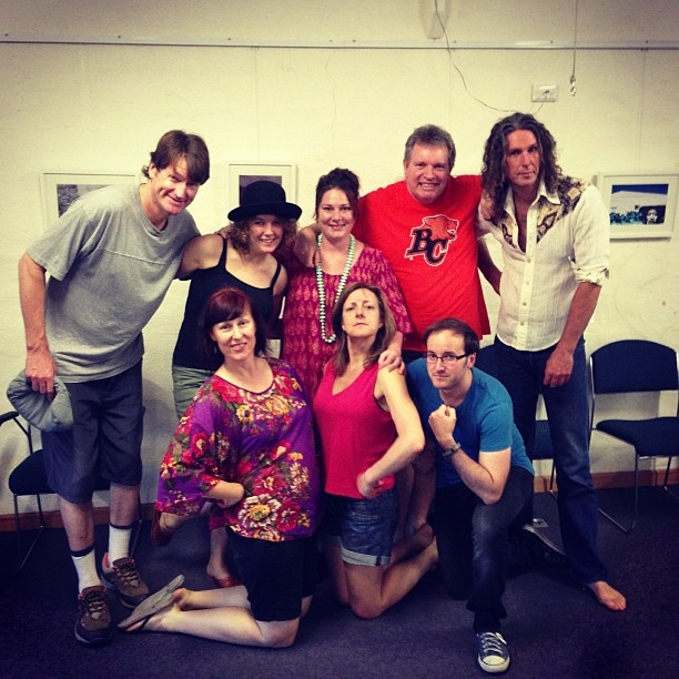 """@justimprovise's photo: """"The cast of the #adelaidefringe installment of 'In A New York Minute' all rehearsed and ready for action."""""""