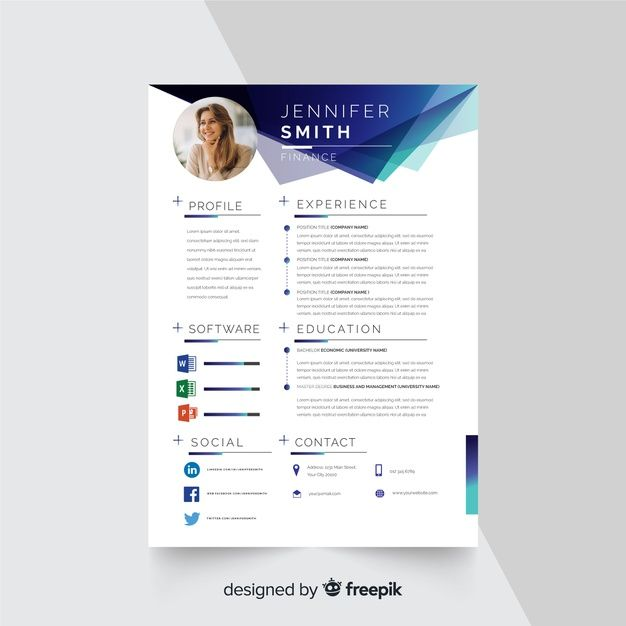Download Curriculum Vitae Template With Photo For Free