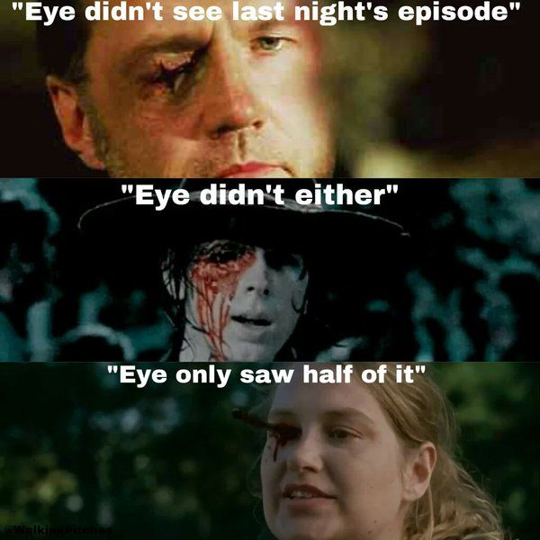 Eye didn't see last night's Walking Dead