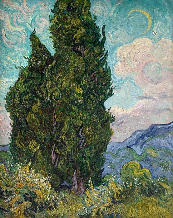 Винсент ван Гог - Кипарисы. часть 3 Музей Метрополитен. Описание картины, скачать репродукцию.