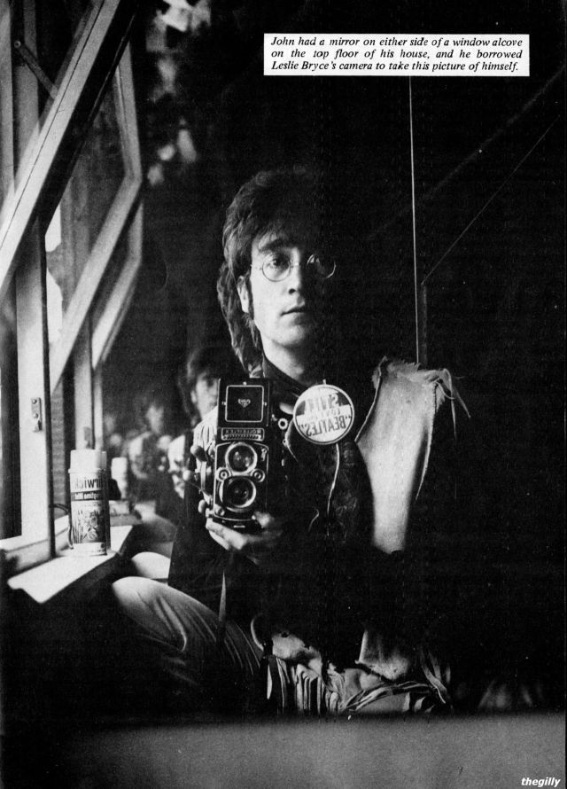 John Lennon in the attic at his Kenwood house, 29 June 1967. Scan from The Beatles Book Monthly No. 126.