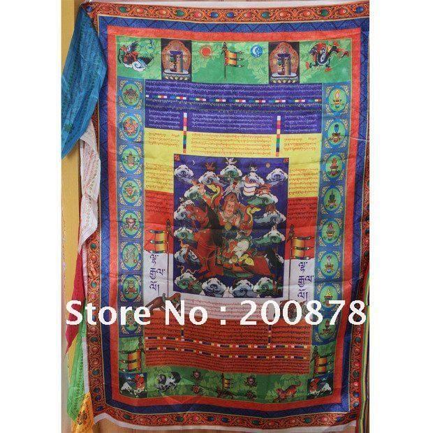 TBC907 Тибетские Молитвенные Флаги, 95*70 см, красочные шелка Тибетский восемь благоприятных Легких Та Ветер Лошадь флаг, король Gesser