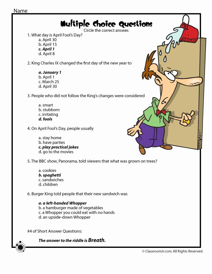 5th Grade Trivia Questions And Answers Printable