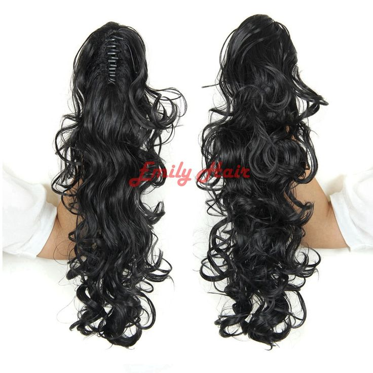 """Curly Ponytail Extension 200g Synthetic Fake Ponytails 20"""" Claw Ponytail Extension Tail Hair Pieces and Ponytails nep staart"""