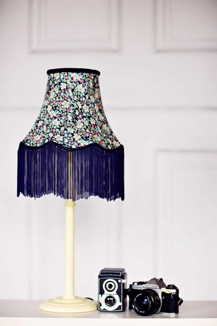 Vintage Lighting, victorian lampshade, liberty fabric lamp, fringe lampshade, vintage lamp shades, blue vintage decor, vintage home decor by ShadowbrightLamps on Etsy https://www.etsy.com/uk/listing/231800937/vintage-lighting-victorian-lampshade