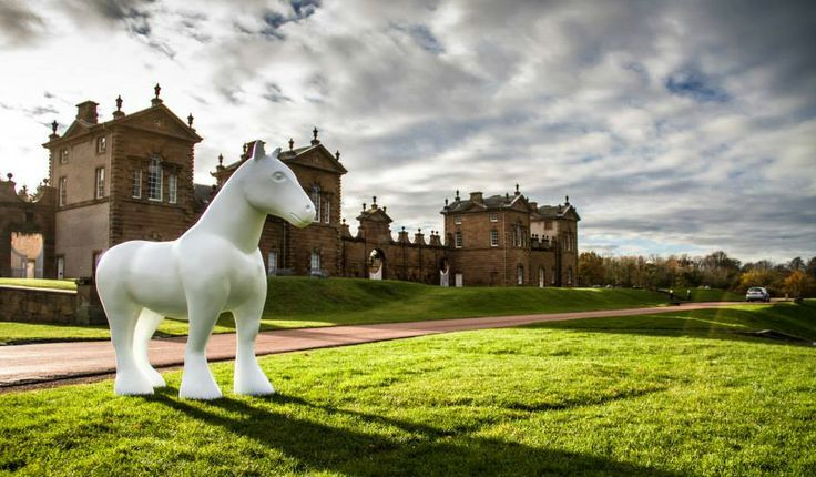 Large model of a Clydesdale horse for Wild In Art's Ready, Steady Gallop! Event - Summer 2014 Art trail, Hamilton, Scotland.