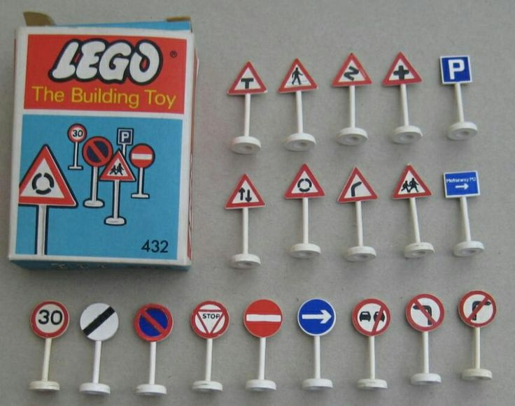 1960s Lego road-signs