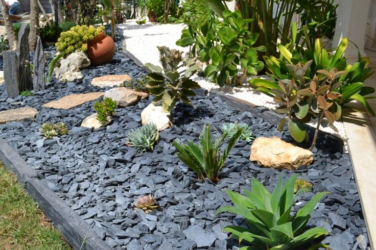24 best idees de jardin mineral graminees images on pinterest landscape designs yard ideas. Black Bedroom Furniture Sets. Home Design Ideas