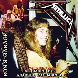 Metal Music Portal: Metallica - Ron Mcgovney's Garage [X L] 1982