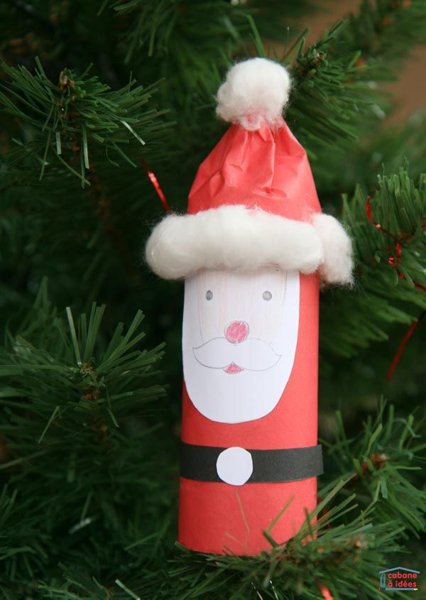 DIY Noël : le Père Noël à partir d'un tube de papier toilette
