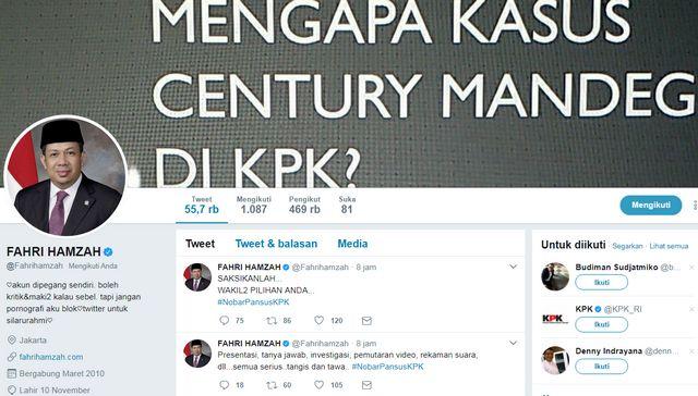 Fahri Hamzah: Seru! Hasil Investigasi Pansus KPK Temukan Hal Mencengangkan Ayo Nobar Pansus http://news.beritaislamterbaru.org/2017/07/fahri-hamzah-seru-hasil-investigasi.html