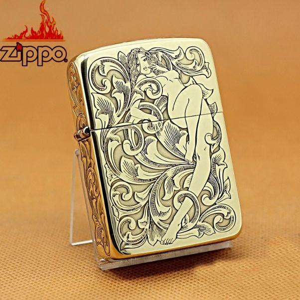 Etching Brass 1941 Replica Zippo Arabesque And Girl Lighter Zippo Art Zippo Collection Zippo Lighter