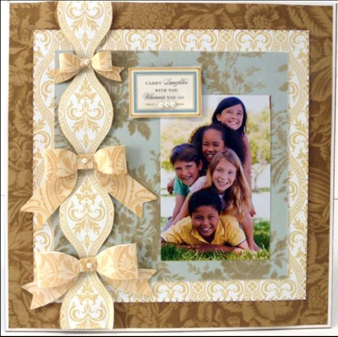 Love the paper bows! @AnnaGriffinInc Need to figure out to use on a card.