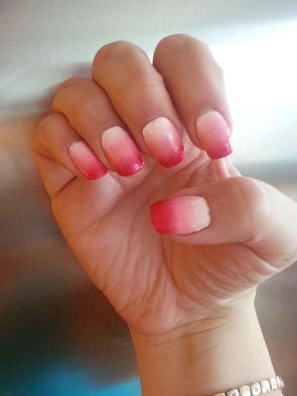 Sponge Technique - Pink, Light Pink & White