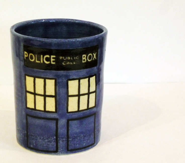 TARDIS cup.  Next time I'm at the paint your own pottery place....
