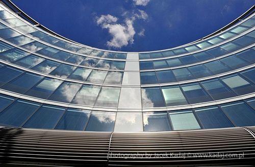 Modern building in Warsaw, Poland