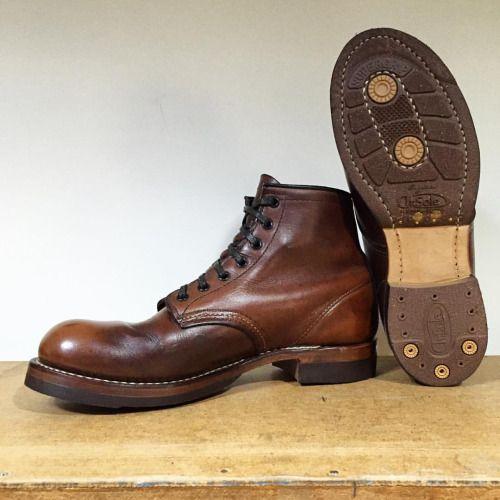 RedWing Beckman 9016 resoled with cork half soles of Dr. Sole Originals.