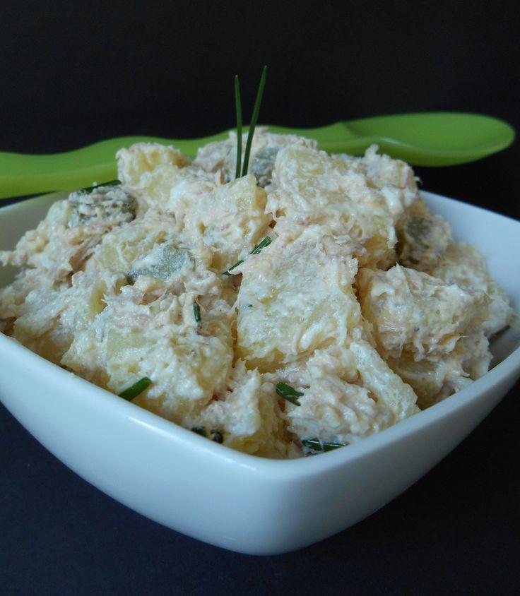SALADE DE POMMES DE TERRE AU THON  Imprimer la recette Préparation 10 min Cuisson 25 min Total 35 min  Une salade de pomme de terre froide, c