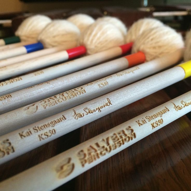 My signature mallets from www.salyerspercussion.com