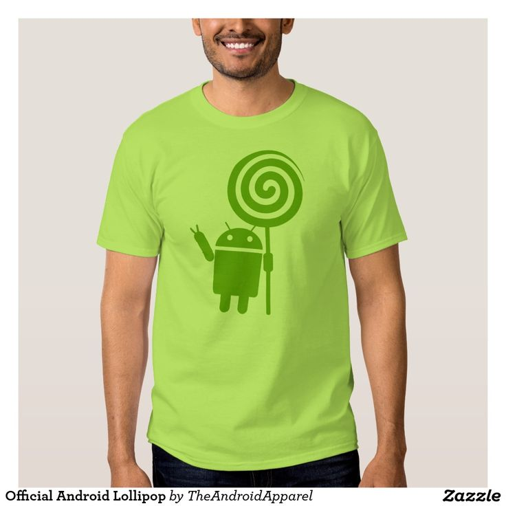 Official Android Lollipop Shirt. Regalos, Gifts. #camiseta #tshirt