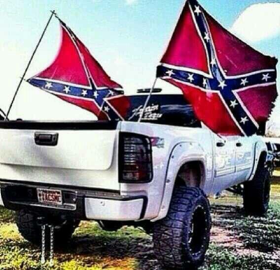 Rebel flag  that truck!!