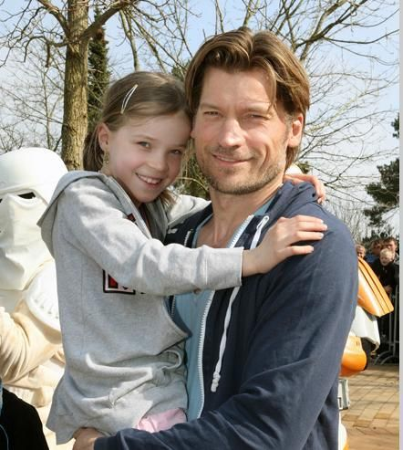 Nikolaj Coster-Waldau with his daughter Safina (I think). Warms my heart.