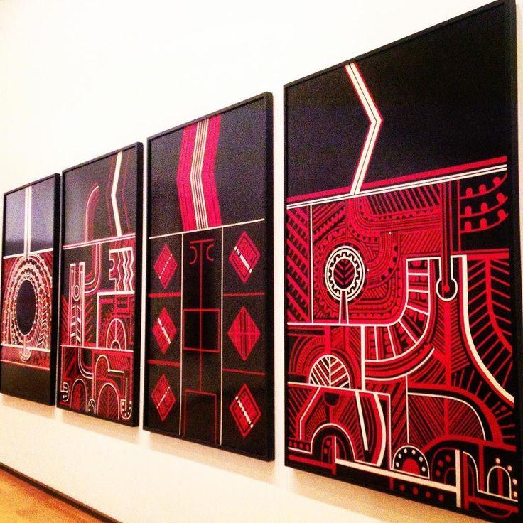 Te Kooti series by Para Matchitt. Māori art in Auckland Art Gallery Toi o Tāmaki. #lavueltaalmundosinprisas #aroundtheworldunhurried #lavueltaalmundo #aroundtheworld #maoriart #artemaori #arte #art #maori #auckland #nuevazelanda #newzealand #viaje #travel #trip #journey #viajero #traveler