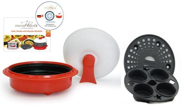 4-Piece 1.5 Qt. Microwave Cookware Everyday Pan Set