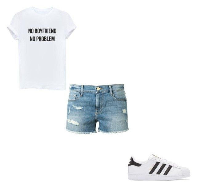 """""""#394"""" by aureeliet on Polyvore featuring Frame and adidas Originals"""