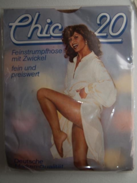 Chic 20 size 38-40 tights inka (tan) (vintage)