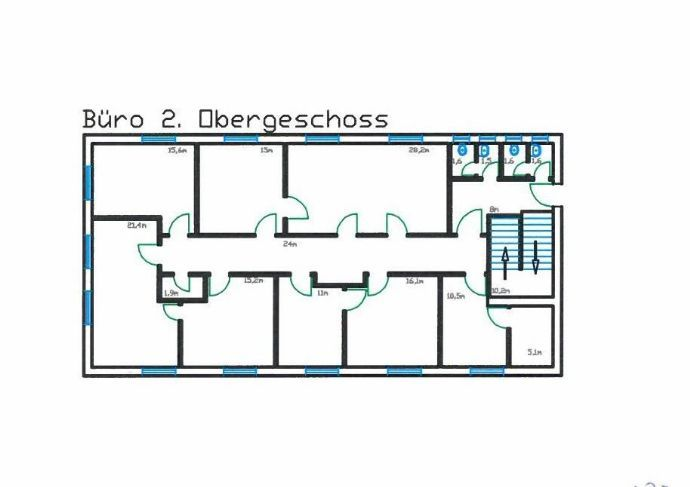Bild 8 von 8: Grundrissplan Büro 2. OG