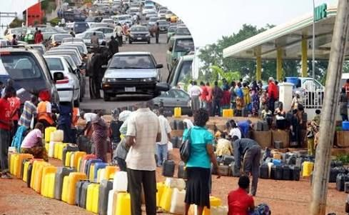 Motorists keep vigil at filling stations:As Scarcity persists   The perennial fuel crisis which has blighted the year worsened across the country weekend as hundreds of motorists slept in petrol stations with the intention of purchasing the products.  This was even as the Federal Government yesterday directed the Pipelines and Products Marketing Company PPMC and the Petroleum Products Pricing Regulatory Agency PPPRA  to commence a special supply intervention measures to bring an end to the perennial fuel scarcity witnessed across the country.  This intervention according to the Minister of State for Petroleum Resources and Group Managing Director of Nigerian National Petroleum Corporation NNPC Dr. Ibe Kachikwu is to ensure a country-wide availability of petroleum products ahead of the forthcoming yuletide and beyond.  To this end the NNPC in a statement in Abuja noted that the Kaduna Refinery and Petrochemical Company resumed operation over the weekend while the intervention was kick-started with the ramping up of additional supply via massive truck-out to guarantee product penetration to the nooks and crannies of the country.  According to the NNPC daily fuel truck out to locations such as Abuja Kaduna Kano Enugu Ibadan and Jos has been increased significantly to enhance free flow of products across the country.  The NNPC stated that it was consolidating its strategic alliance with some major depot owners and oil marketers with strong regional logistics outlay in those areas to ensure maximum infiltration of products especially in the hinterland ahead of the forthcoming Christmas and New Year festivities.  Warns against diversionhoarding  While calling on members of the public to refrain from hoarding product diversion and panic buying of petrol the NNPC noted that the intervention measure would help circumvent the challenges posed by the unavailability of pipelines for the transportation of petroleum products.  It warned that product diversion is an economic crime and stated that it would not hesitate to report offenders to the security agencies for prosecution.  Despite the claims by the NNPC the scarcity increased in intensity Wednesday few days after the Federal Government announced that it had paid oil marketers their outstanding subsidy claims and it showed no sign of abating.  Scarcity persists  One motorist who spoke to Vanguard disclosed that despite the fact that he came to the petrol station by 2 am he couldnt get the product to buy at the NNPC Mega Station at Katampe along the Kubwa Expressway till around noon.  Another motorist said he joined the queue 5 am on Sunday but couldnt get fuel to buy until 4 pm.  When Vanguard visited petrol stations along the Kubwa Expressway by 5am vehicles were parked in front of the MRS Mobil Conoil Total and Bulasawa filling stations despite the fact that they were yet to commence business for the day.  Only the NNPC Mega Station was selling with queues stretching several kilometres and a chaotic situation.  To worsen matters security personnel stationed at the entrance to the petrol stations to maintain orderliness were seen fuelling disordeliness. The security personnel allowed motorists who had paid them between N500 and N1000 to enter through the exit gate forcing other orderly motorists to spend several hours on the queue.  Same situation was witnessed in some petrol stations at the Central Business Districts as some motorists claimed they had to leave their houses as early as 3am to join the queue.  As a result of the fuel crisis transport companies hiked their fares thereby worsening the plight of commuters.  ABC Transport C ompany at Utako for instance hiked its fare from Abuja to Enugu to N6000 weekend from N4500 earlier in the week.  Same situation was recorded in other transport companies heading to the south eastern part of the country specifically forcing people travelling for the Christmas holiday to incur additional costs.  Scarcitynationwide  Osun: The effect of fuel situation in Osun State worsened over the weekend as most filling stations sold their products between N140 and N150 per litre. The situation was not made better as the NNPC mega station which sold its petrol product at normal price of N87 per litre had no supply. Similarly transporters who are on inter-state routes have subsequently increased their fare by about 25 per cent.  Kwara: The fuel situation in Kwara particularly Ilorin the state capital was worrisome as virtually all the fuel stations have remained under permanent lock for sometime nowexcept OANDO along Muritala and NNPC along Offa Garage Road and Asa Dam Road which dispense the products whenever they have.  As a result of this developmentmany motorists have now resorted to buying fuel in the nearby Ogbomosho about 30 minutes drive where petrol was available at N140 per litre.  Anambra: Despite the availability of petroleum products in most filling stations in Anambra State the prize has continued to hover between N115 and N130 per litre.  NNPC mega station in Awka which is the only station selling at the official price of N87 per litre does not sell regularly. Whenever there is fuel at the mega station the queues are unusually long as many people would want to fill their vehicles at that rate.  Other stations with NNPC signs and the multinational companies have not been selling fuel to the public since the prize went up as there were allegations that they prefer to sell to the independent markers wholesale who in turn were freer to sell at whatever rate they liked.  Unlike last week when many stations did not have fuel almost all stations along the AwkaOnitsha-Owerri axis had fuel yesterday and there were no queues whatsoever.  Some of the fuel attendants said they were still trying to finish the fuel they lifted at very high rate before adjusting their pumps to the normal prize.  It was however discovered that some of the stations that were not selling when the prize was high have bought products but were still claiming that they bought them at exorbitant rates.  Bayelsa: Petrol is relatively scarce in the predominantly riverine state. A litre is sold between N130 and N150 in filling stations across the state where the product is available.  This explained the daily long queue at the NNPC mega station along Sani Abacha express road in the heart of Yenagoa where a litre is sold at N87.  Motorists preferred the NNPC station to the other retail outlets in town regardless of the inconveniences in buying the product.  The NNPC mega station pumps are believed to be dispensing the actual fuel paid for as against the other retail outlets which pumps have been tampered with and are under dispensing to buyers.  Ogun: Many filling stations in the state locked their gates while the few that opened sell above the pump price at between N120 and N140 while only NNPC stations and MRS sell at N87 .  Following the scarcity of fuel in Abeokuta the state capital and some other parts of the statewhich include Ijebu-Ode Ilaro among others most commercial vehicles charged exorbitant prices.  Abia: Fuel scarcity persists in the state as most petrol stations have remained closed while the few that have products dispense at between N125 and N140 per litre. However the NNPC Mega station on Enugu-Port Harcourt express road has been selling at N87 per litre though there are always long queues.  Oyo: Long and endless queues at filling stations which had subsided for a week have now returned. Premium Motor Spirit is sold for as much as N125 by some independent marketers while most major marketers shut their stations for lack of supply.  In Sabo area of the city black market goes on unhindered as under age boys stand by the road sides with kegs of petroleum products.  Rivers: Black market operators dealing on petrol are still making brisk business in Port Harcourt capital of Rivers State and adjourning local government areas because of scarcity of the product.  Most filling stations did not have product the few that were selling dispensed to motorists at between N140 and N160 per litre. There were long queues at few filling stations of major marketers selling at N87 per litre. Commercial bus operators were still charging twice the fares for some routes because of the scarcity.  Source-  Vanguardngr  Economy LATEST NEWS