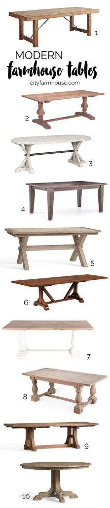 Farmhouse Tables - City Farmhouse                                                                                                                                                     More