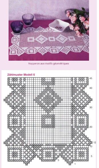 Filet Crochet Runner