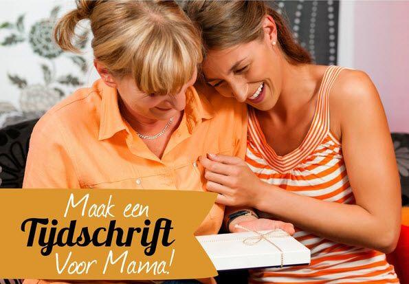 Wat geef jij je moeder cadeau? Weer een badkamer setje of een bloemetje? Of een eigen tijdschrift?