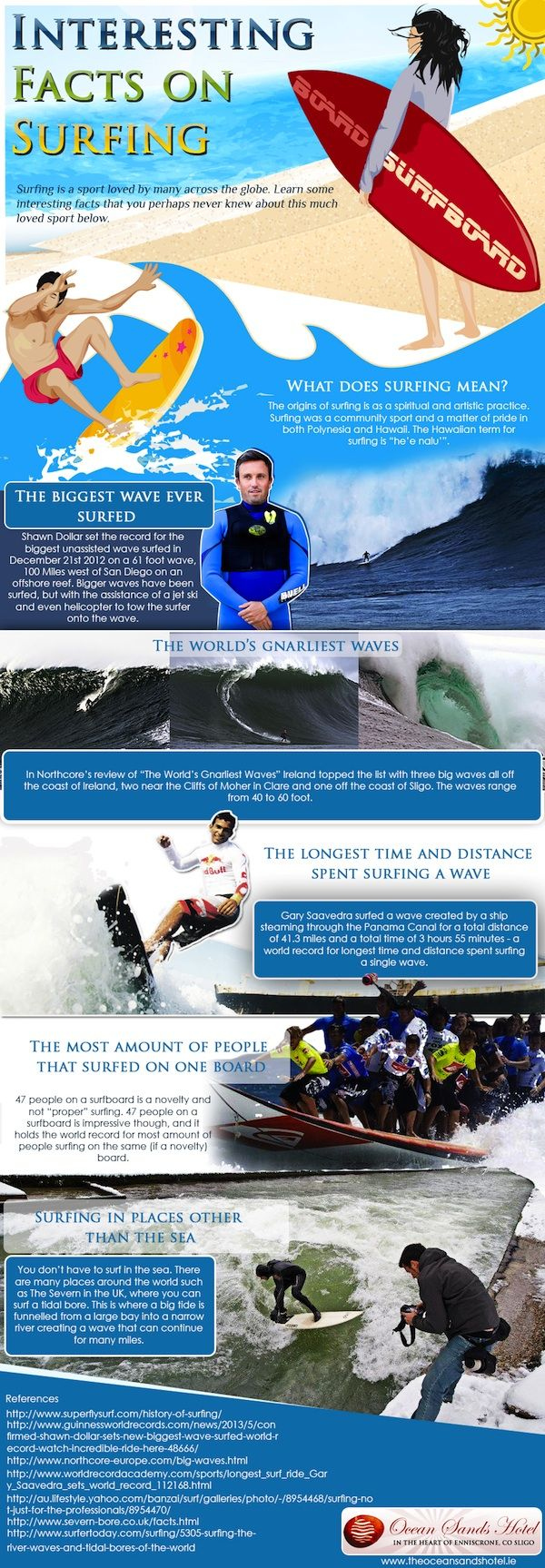 Surfing infographic