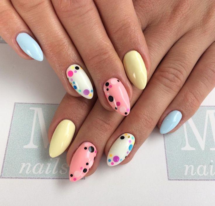 "Polubienia: 454, komentarze: 2 – Nail Salon | Szkolenia | Sklep (@mnails_official) na Instagramie: ""#piegi #dots #kropeczki #pastelove #nailswag #nailaddict #mnails_kinga #mnails…"""