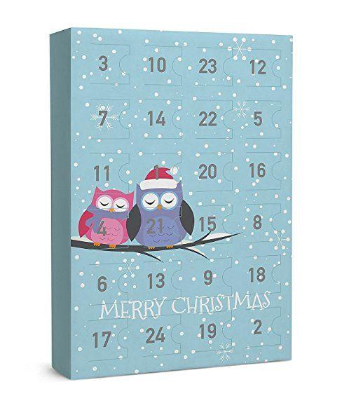"""SIX """"Weihnachten"""" 24-teiliger Schmuck Adventskalender Eulen Tiermotiv Ohrringe Ringe Armbänder Ketten XMAS Adventszeit Geschenk (388-279)"""