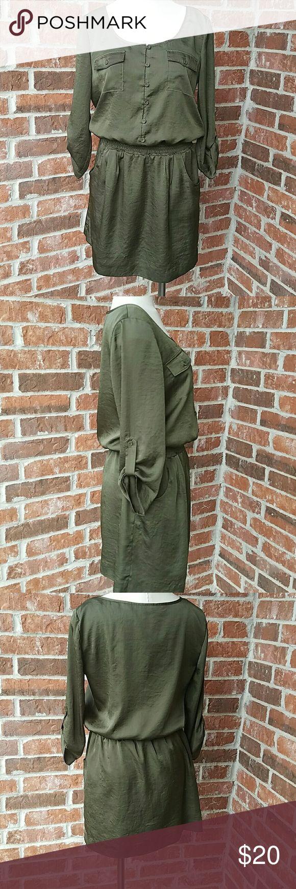 Gianni Bini dress Olive green excellent condition Gianni Bini Dresses