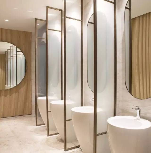 342 best public restroom images on pinterest bathroom for Washroom interior design