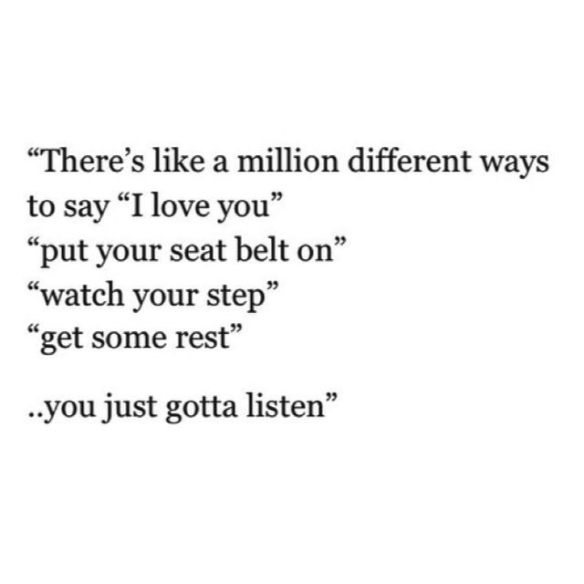 "Little ways to say ""I love you, I don't want to lose you"""