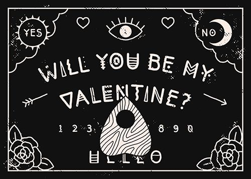 Pastel Goth Wallpaper Girl Lordofmasks A Valentine For Your Boo Printable Ouija